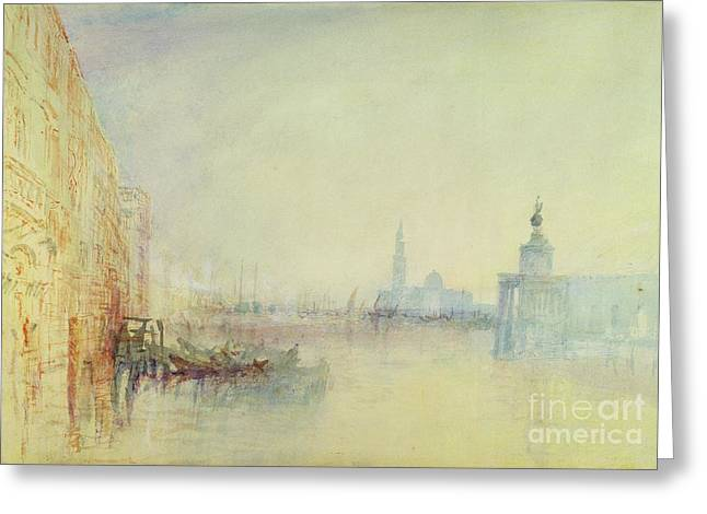 Campanile Greeting Cards - Venice - The Mouth of the Grand Canal Greeting Card by Joseph Mallord William Turner