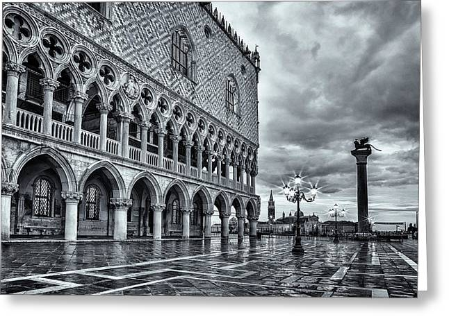 Venice After The Rain Greeting Card by Andrew Soundarajan