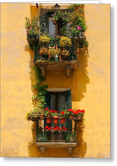Venice Balcony Greeting Card by Carl Jackson