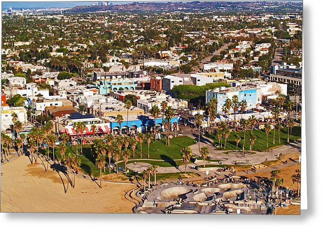 Venice Beach Aerial Greeting Card