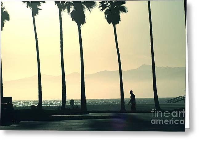 Venice Beach California Greeting Card by Micah May
