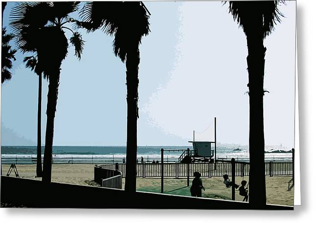 Venice Beach California Greeting Card by Phill Petrovic