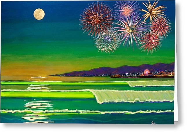 Venice Beach Celebration  Greeting Card by Frank Strasser