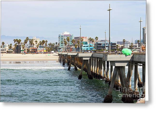 Venice Beach From The Pier Greeting Card