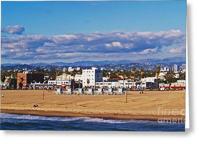 Venice Beach In Fall Greeting Card