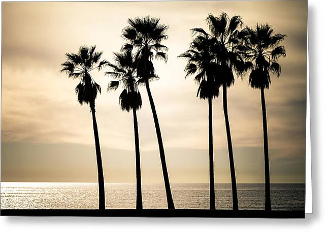 Venice Beach Palms   Greeting Card by Matthew Harper