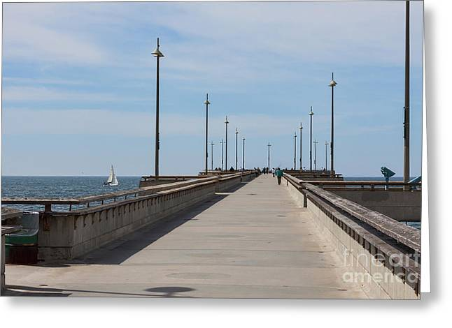 Venice Beach Pier Greeting Card
