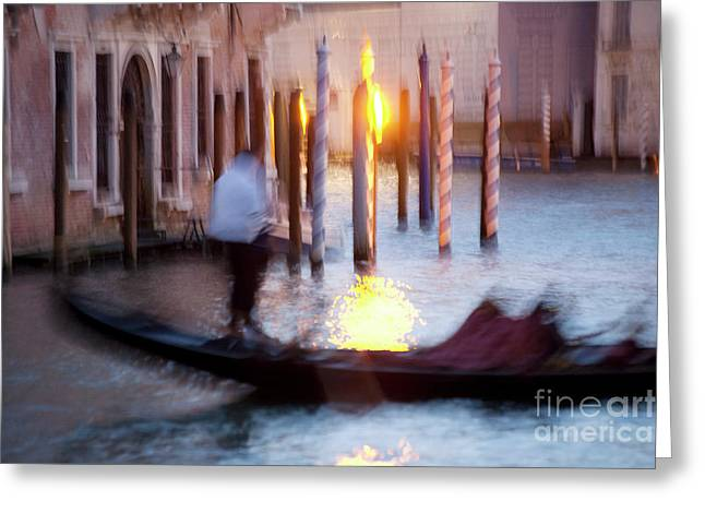 Venice Blue Hour 1 Greeting Card by Heiko Koehrer-Wagner