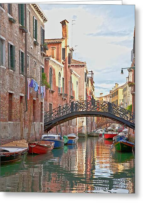 Venice Bridge Crossing 5 Greeting Card by Heiko Koehrer-Wagner