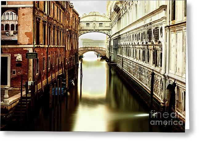Venice Bridge Of Sighs Greeting Card