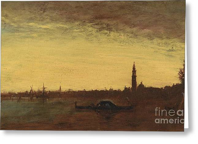 Venice By Dusk Greeting Card by Celestial Images
