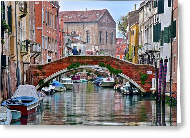 Venice Canal As Seen In The Italian Job Greeting Card by Frozen in Time Fine Art Photography