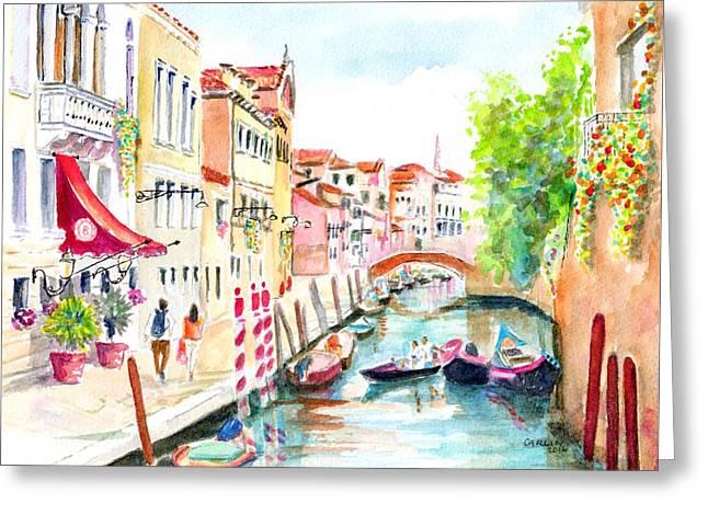 Venice Canal Boscolo Venezia Greeting Card