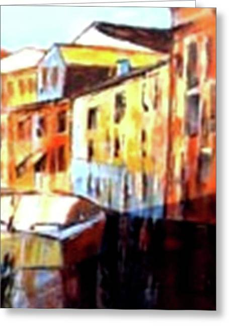 Venice Canal Cruise 3 Greeting Card