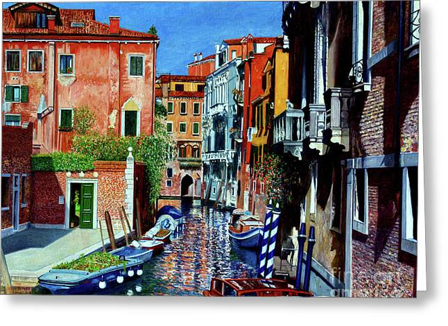 Venice Canal, Dorsoduro Greeting Card by Anthony Butera