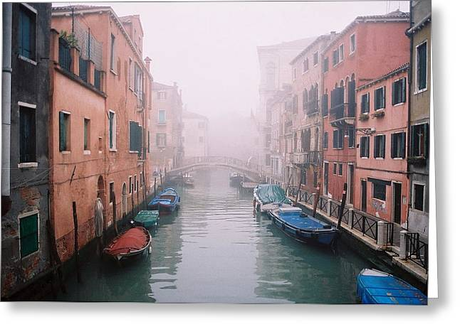 Venice Canal I Greeting Card by Kathy Schumann