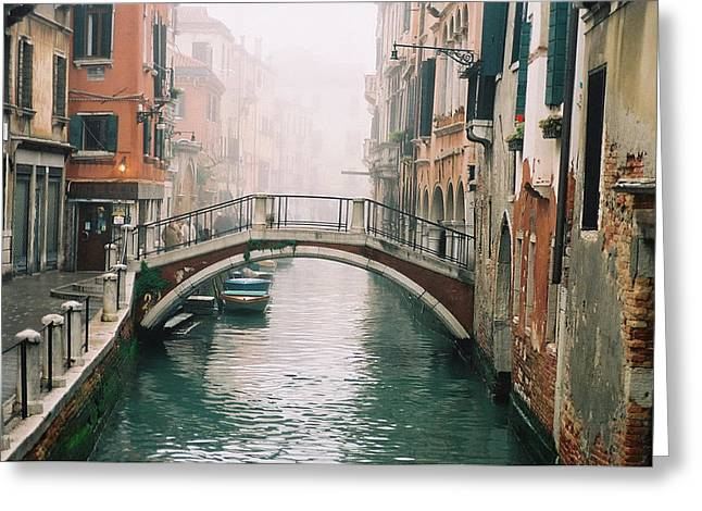 Venice Canal II Greeting Card by Kathy Schumann