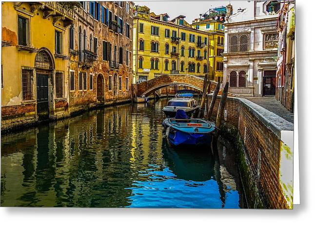 Venice Canal In Italy Greeting Card