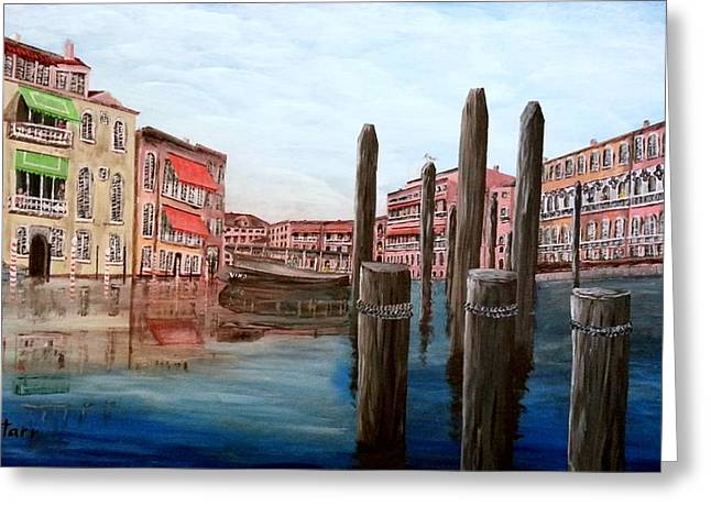 Venice Canal Greeting Card by Irving Starr