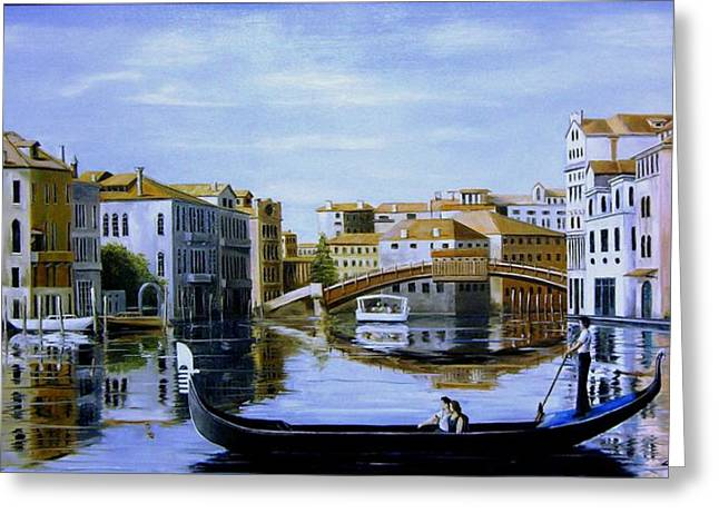 Venice Canal Ride Greeting Card by Jim Horton