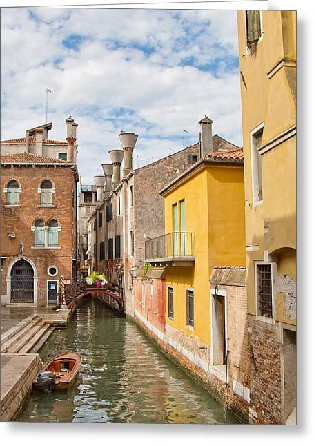 Greeting Card featuring the photograph Venice Canal by Sharon Jones