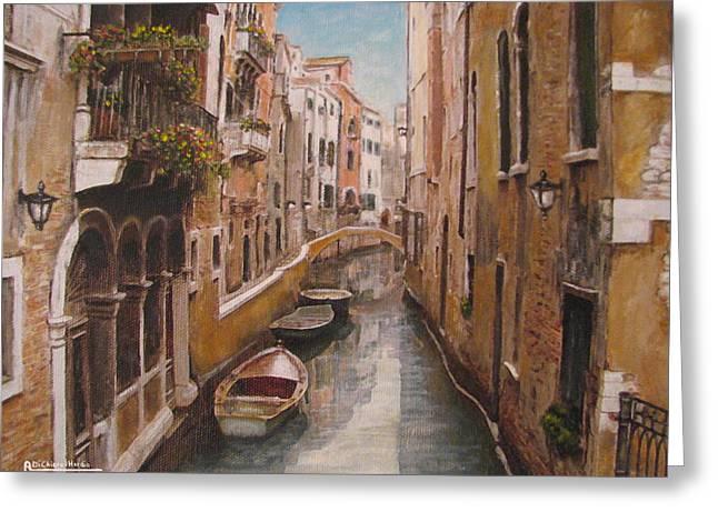 Venice-canale Veneziano Greeting Card