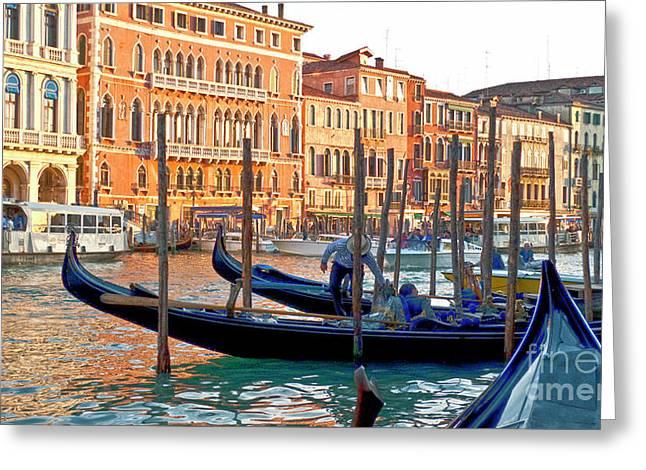 Venice Canalozzo Illuminated Greeting Card by Heiko Koehrer-Wagner