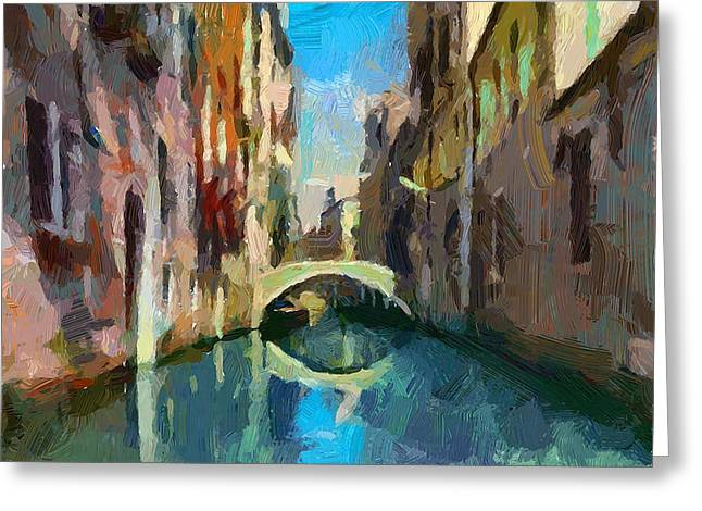 Venice Canals 02 Greeting Card by Yury Malkov