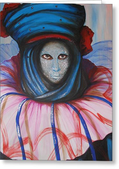 Venice Carnival 5 Greeting Card