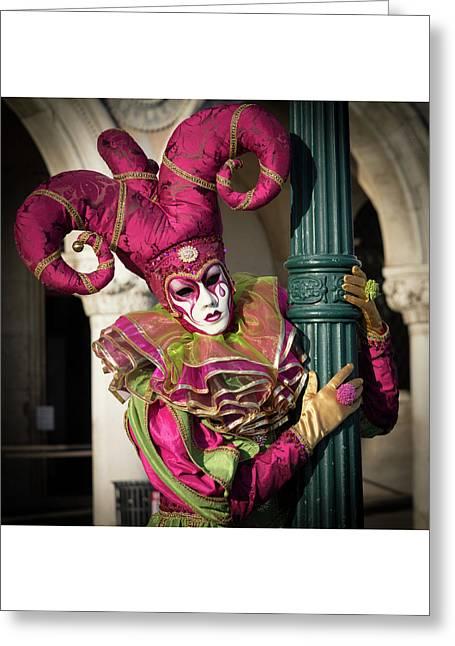 Venice Carnival Joker Greeting Card