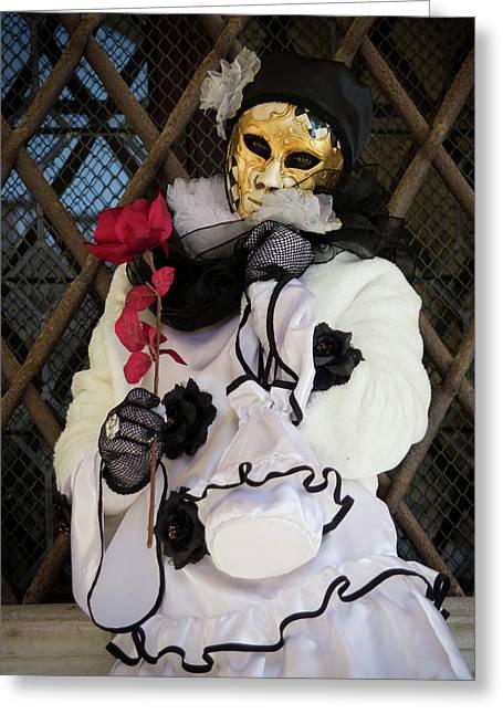 Venice Carnival Pierrot Greeting Card