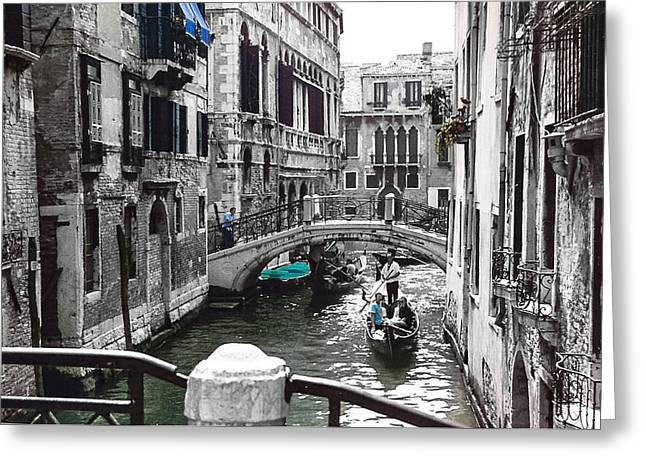 Venice Greeting Card by Cat Connor