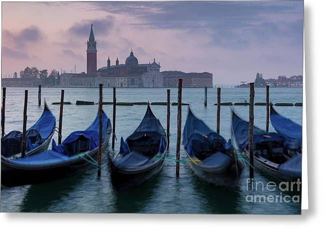 Greeting Card featuring the photograph Venice Dawn IIi by Brian Jannsen
