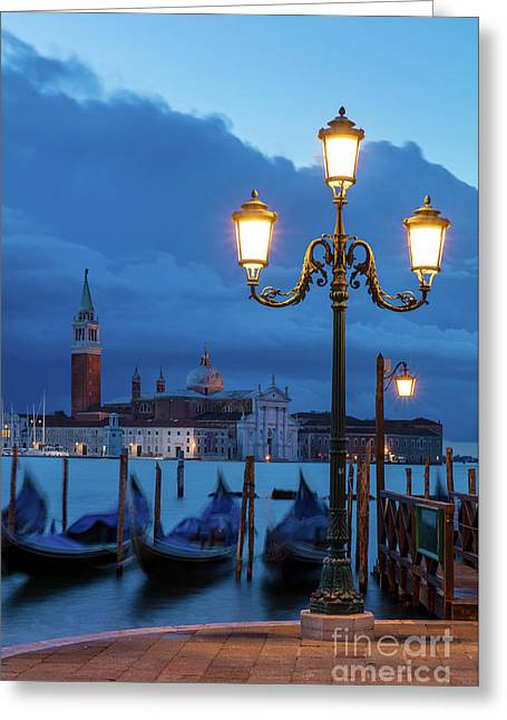 Greeting Card featuring the photograph Venice Dawn V by Brian Jannsen