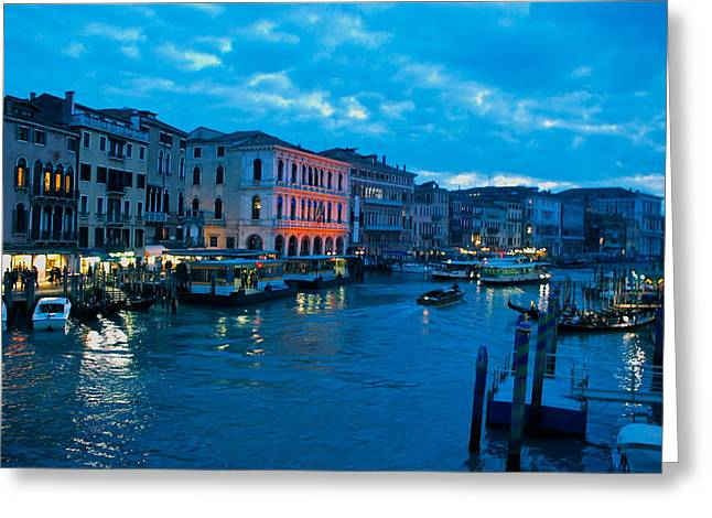 Greeting Card featuring the photograph Venice Evening by Eric Tressler