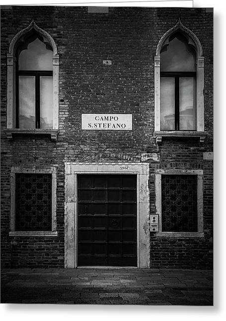 Venice Facade Greeting Card by Andrew Soundarajan