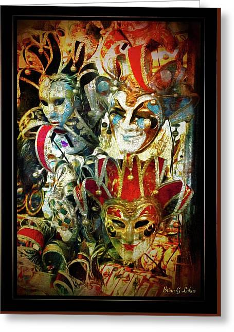 Venice Faces Greeting Card by Brian Lukas
