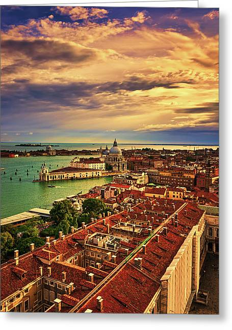 From The Bell Tower In Venice, Italy Greeting Card