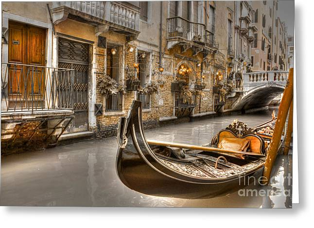 Venice Gold Greeting Card