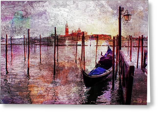 Venice Gondola Greeting Card by Brian Lukas