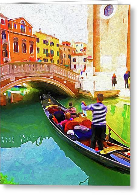 Venice Gondola Series #1 Greeting Card by Dennis Cox