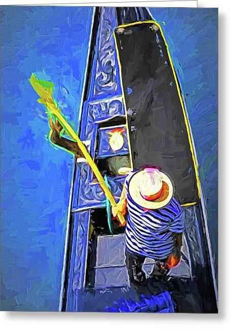 Venice Gondola Series #4 Greeting Card by Dennis Cox