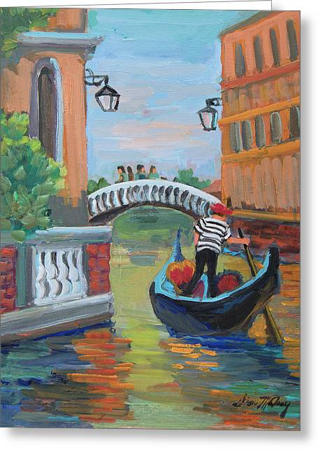 Venice Gondolier 1 Greeting Card by Diane McClary