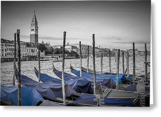 Venice Grand Canal And St Mark's Campanile Panoramic View Greeting Card by Melanie Viola