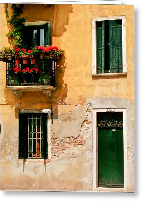 Venice Home Greeting Card by Carl Jackson