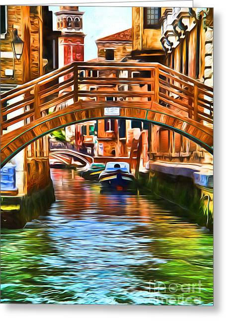 Venice Impression Greeting Card