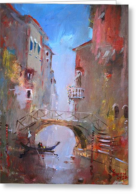 Venezia Greeting Cards - Venice Impression Greeting Card by Ylli Haruni