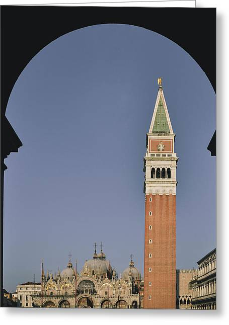 Venice In A Frame Greeting Card