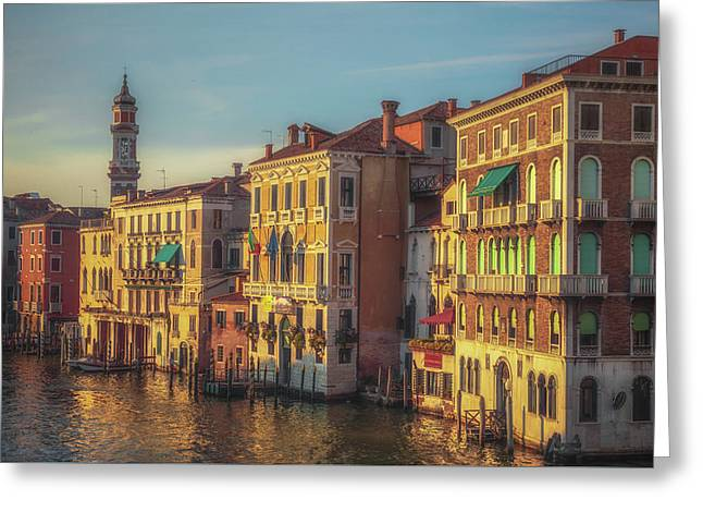 Venice In Sunset Light Greeting Card