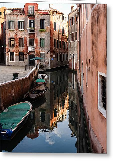 Venice Italy - Wandering Around The Small Canals Greeting Card